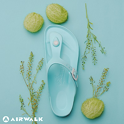 【AIRWALK】百搭羅馬夾腳拖鞋-薄荷綠