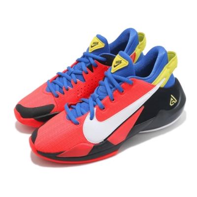 Nike 籃球鞋 Freak 2 GS 運動 女鞋 明星款 避震 包覆 字母哥 大童 紅 藍 CN8574606