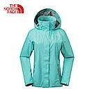 The North Face北面女款藍色防水透氣防風外套