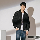 H:CONNECT 韓國品牌 男裝-復古撞色飛行外套-黑