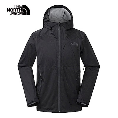 The North Face北面男款黑色防水透氣衝鋒衣 3RKIJK3