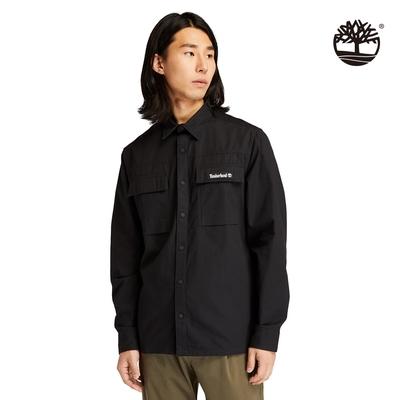 Timberland 男款黑色Utility有機棉襯衫外套 A22AZ001