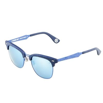 【BAPE 猿人】A Bathing Ape 藍彩紋印框款太陽眼鏡 BS13041 BU-(無盒版)