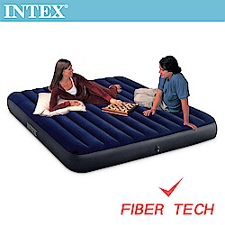 INTEX 經典雙人(新款FIBER TECH)充氣床-寬152cm(64759)