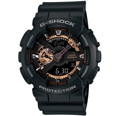 G-SHOCK 重機雙顯時尚運動錶(GA-110RG)