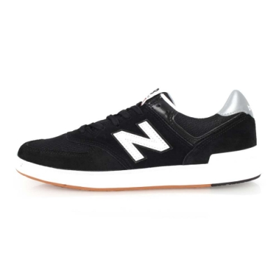 NEWBALANCE 574系列 男休閒鞋-慢跑 NB N字鞋 黑白