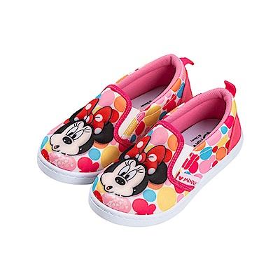 迪士尼童鞋 米妮 立體鞋面休閒便鞋-桃