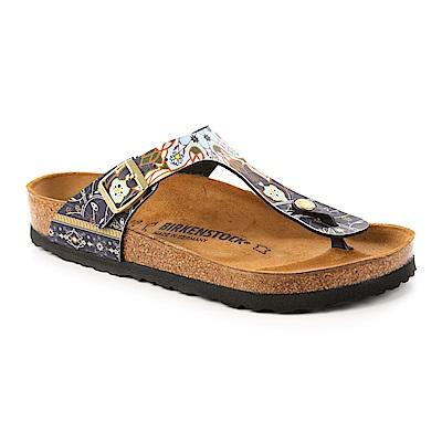 勃肯BIRKENSTOCK1009804GIZEH吉薩夾腳拖鞋(馬賽克藍)