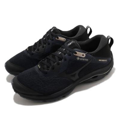 Mizuno 慢跑鞋 Wave Rider GTX 男鞋 美津濃 路跑 緩震 防潑水 運動休閒 黑 藍 J1GC207910