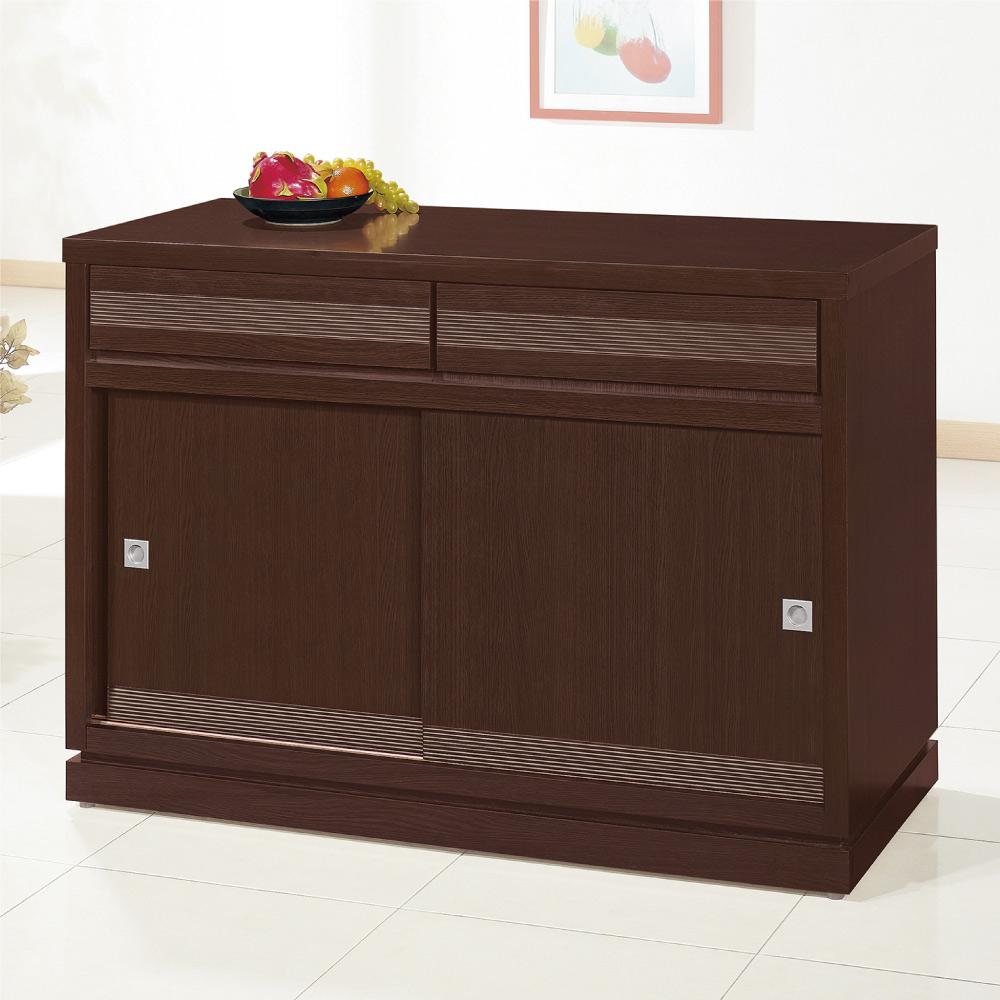 綠活居 帕迪時尚3尺推門二抽餐櫃/收納櫃-91x52x84.5cm免組