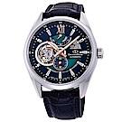 ORIENT東方STAR東方之星真皮機械錶手錶RE-DK0002L-藍綠/41mm
