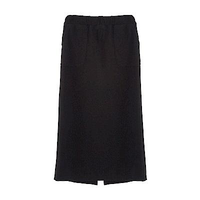 CACO-休閒坑條中長裙-(兩色)-女【RSH057】