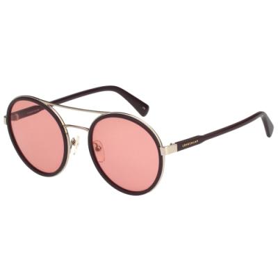 LONGCHAMP 太陽眼鏡 (咖啡紅)LO631SA