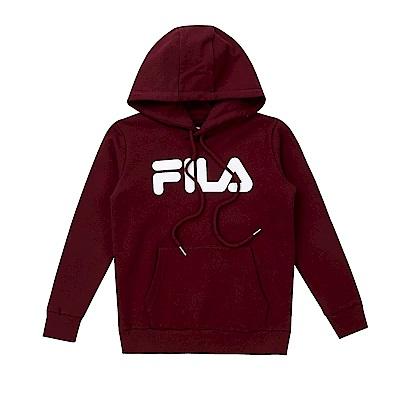 FILA KIDS #東京企劃原宿篇 童連帽上衣-深紅 1TES-8435-WN