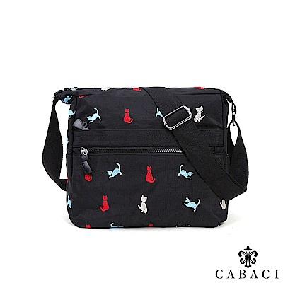 CABACI 淘氣小貓繡線多層收納斜背包