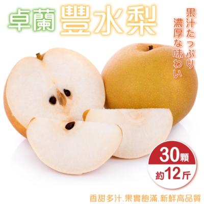 【天天果園】嚴選卓蘭豐水梨12斤(約30顆)