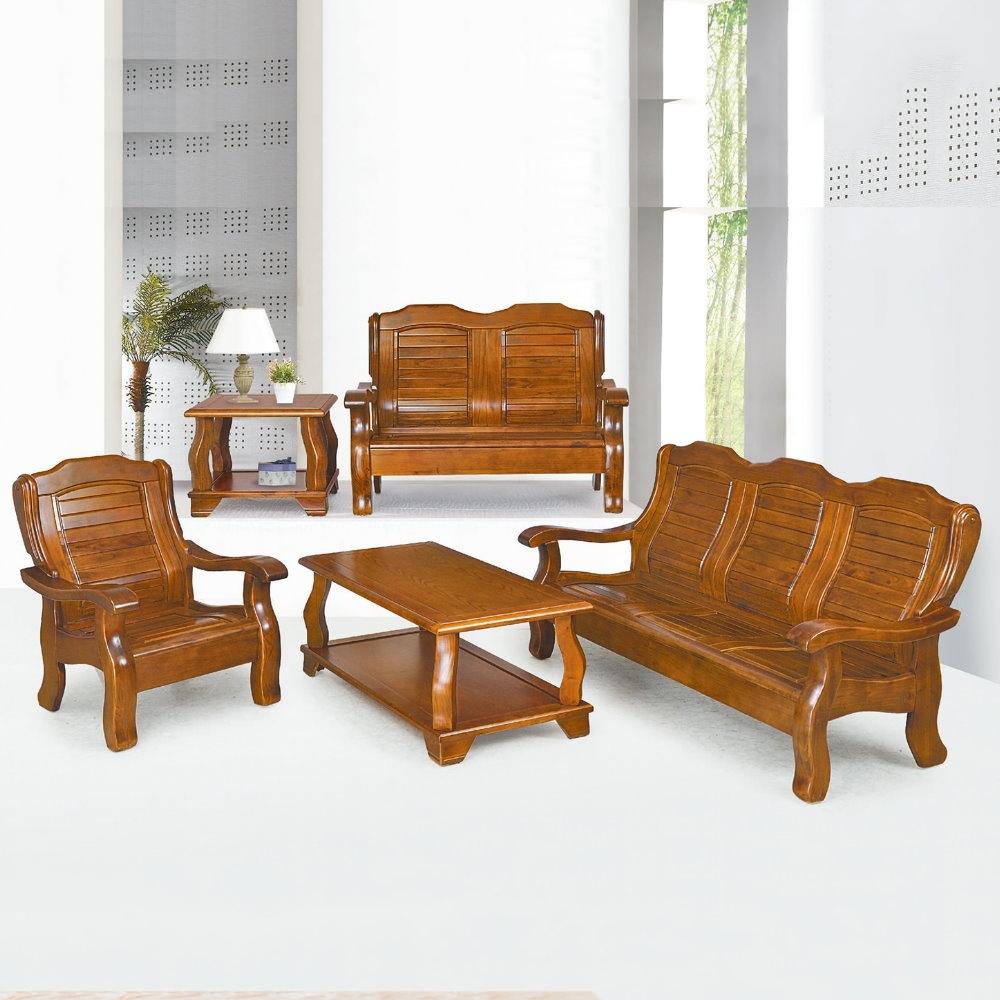 MUNA 361型淺胡桃色實木組椅(三人座)  185X82X94cm
