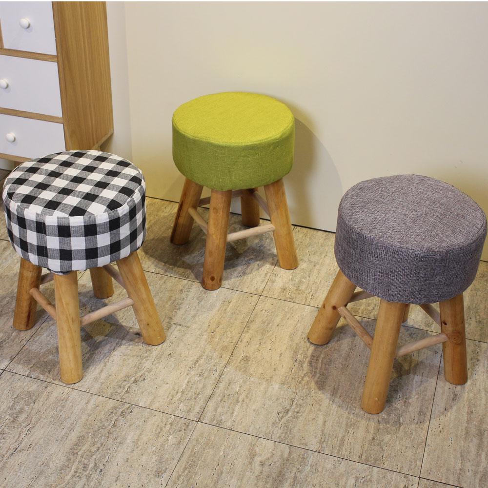 Asllie朵拉高腳圓形板凳/椅凳-三色可選