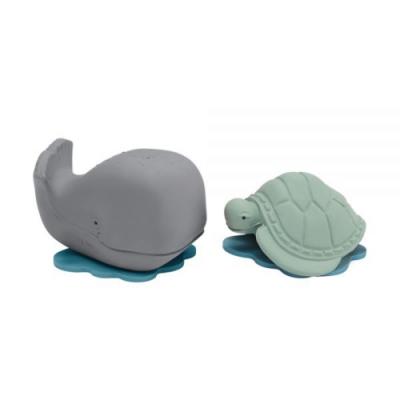 戲水玩具海洋系列兩件組 - 小灰鯨&小綠龜