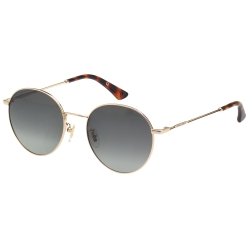 POLICE- 偏光片 復古圓框 太陽眼鏡 (金色)PE866I