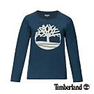 Timberland 女款直布羅陀海峽藍色圓領長袖T恤|B4509
