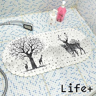 Life Plus 歐風吸盤式防滑地墊 (麋鹿)