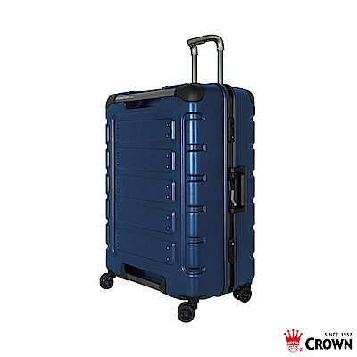 CROWN 皇冠 27吋鋁框箱 藍色悍馬箱 獨特箱面手把 行李箱