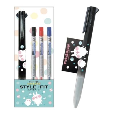 日本ENSKY卡娜赫拉UNI機能筆STYLE+FIT油性3色0.38mm原子筆423766
