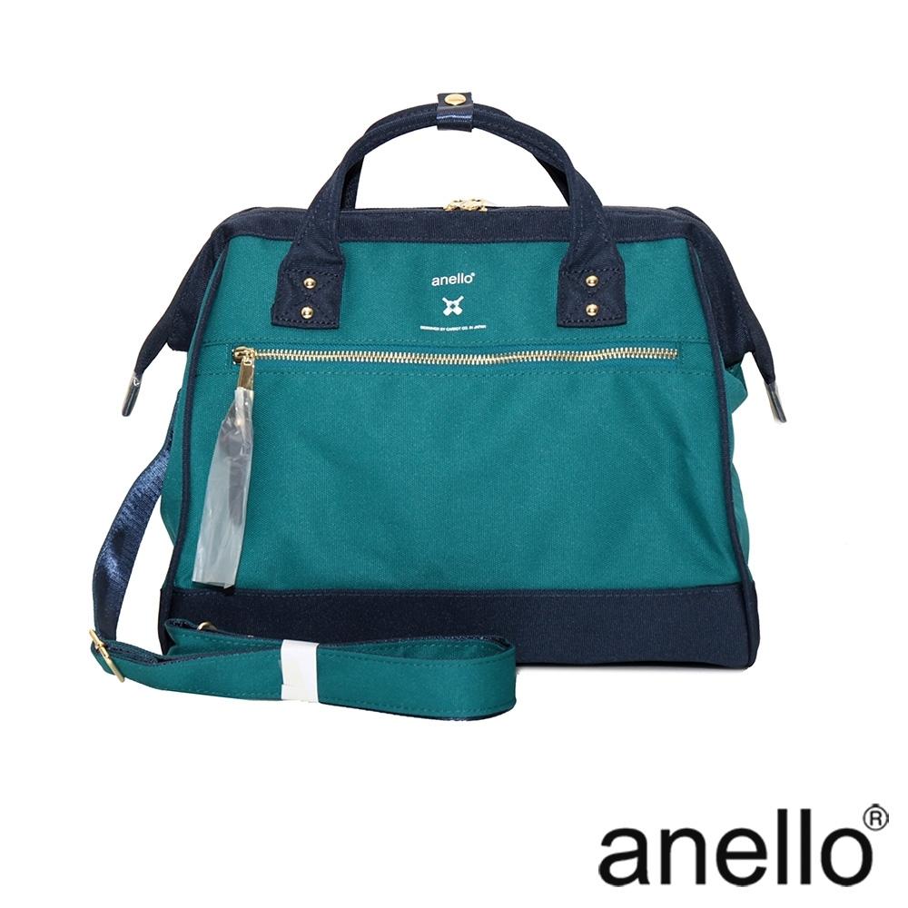 anello RE:MODEL 防潑水經典口金波士頓 湖綠x深藍  Regular