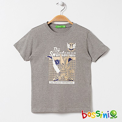 bossini男童-印花短袖T恤01淺灰