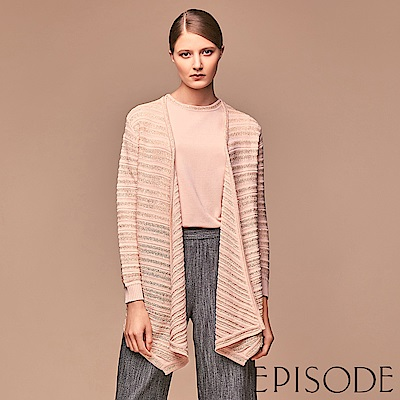 EPISODE - 金屬紗立體織紋針織垂墜造型外套