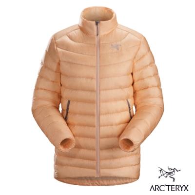 Arcteryx 始祖鳥 女 Cerium LT 防潑水 保暖 羽絨外套 靈丹粉橘