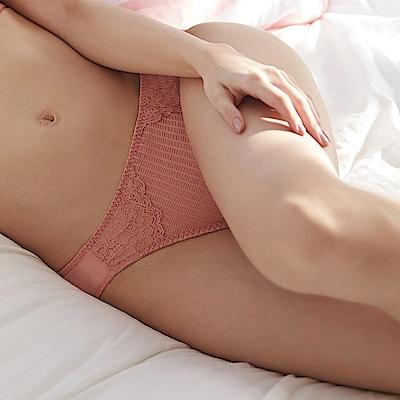 蕾黛絲-親膚好感挺素面搭配低腰內褲 M-EL 珊瑚橘