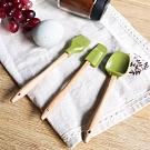 【KM生活】廚房料理烘培用具矽膠三件組(刮刀/刮杓/刷子)