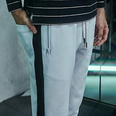 CACO-側條運動長褲-情侶款(三色)-男-【QNC020】