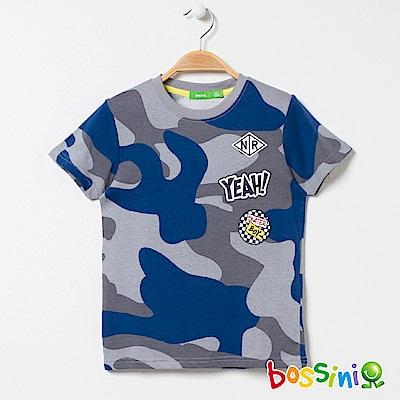 bossini男童-印花短袖T恤10灰