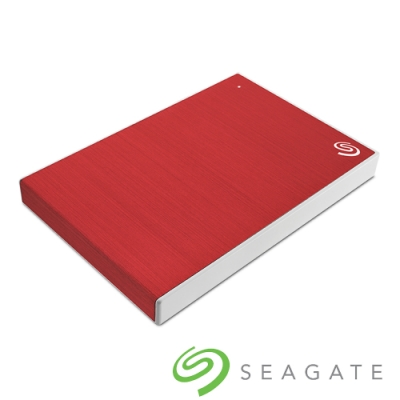 Seagate Backup Plus Slim 1TB 2.5吋 外接硬碟-櫻桃紅