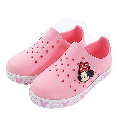 迪士尼米妮輕量洞洞鞋 粉 sk0470 魔法Baby