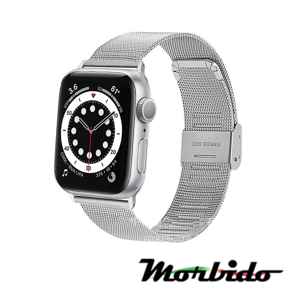 Morbido蒙彼多Apple Watch 6/SE 44mm不鏽鋼編織卡扣式錶帶 product image 1