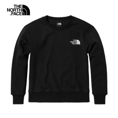 The North Face北面女款黑色圓領長袖上衣|4U9PJK3