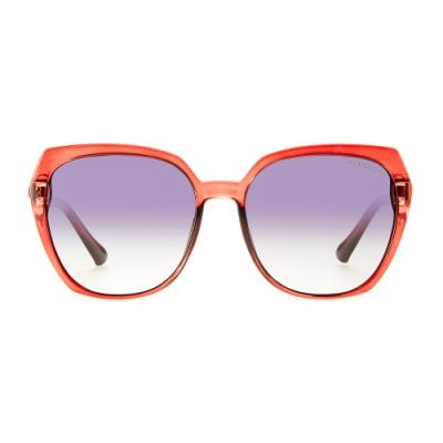 BIS IN DEI 顯瘦大方框太陽眼鏡-紅