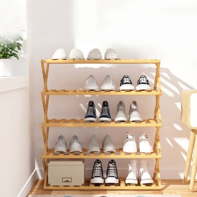 【VENCEDOR】 免安裝木質鞋架 (五層)