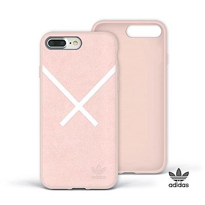 adidas iPhone 7/8 Plus XBYO 麂皮絨面貼皮背蓋手機殼 - 粉