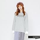 H:CONNECT 韓國品牌 女裝-條紋拼接文字洋裝-灰(快)