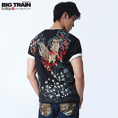 BigTrain猛火麒麟王圓領T-男-黑色