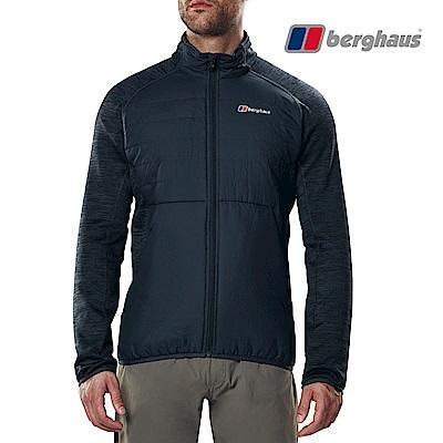 【Berghaus貝豪斯】男款高科技棉保暖外套H22M49灰色/黑色