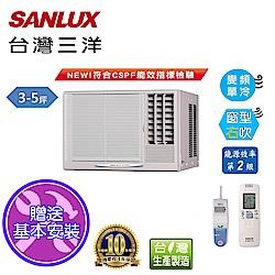 台灣三洋SANLUX 3-5坪窗型變頻右吹式SA-R22VE