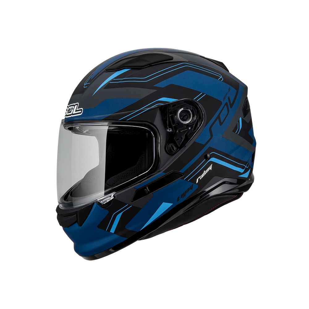【SOL】SF-6 超新星 消光灰/黑藍 全罩式(安全帽│藍芽耳機槽│內墨鏡片)