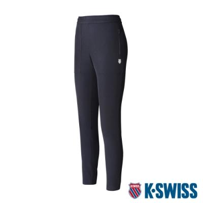 K-SWISS KS Logo Pants吸排運動長褲-女-黑