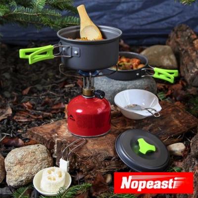 Nopeasti諾比 戶外登山露營野炊輕便型不沾鍋鍋具組
